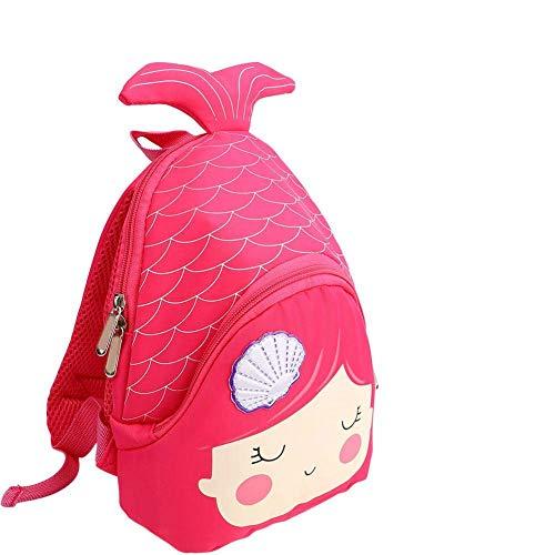 Mochila para niños, Mochila de animales lindos de dibujos animados Mini Mochila escolar Bolsa de almuerzo para niños de preescolar Pre Kindergarten(Rosa Rosa)