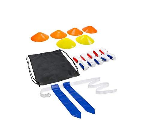 FLAG FOOTBALL Kit Flaggen und Gürtel von 10 (1 von 2) mit 6 Kegeln Barnett