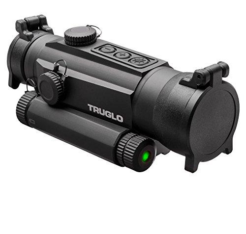 TRUGLO TRU-TEC 30mm Tactical Red Dot Sight, Green Laser (TG8130GN)