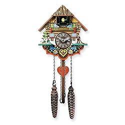 Jewels By Lux Musical Multi-Colored Quartz Cuckoo Clock