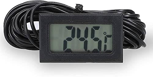 Miaison Mini termómetro digital LCD con sensor para frigorífico, congelador, acuario, tanque de agua, cable de 2 m