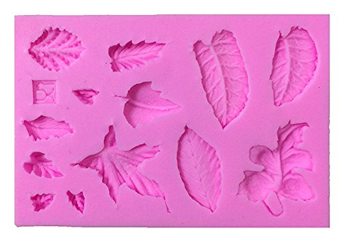 Blue Vessel 3D Leaves Silicone Fondant Mold Cake Decoration Baking Icing Sugar Mold