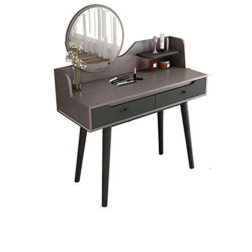 AMY-XCQ Tocador Simple con Espejo Dormitorio con Cajones Combinación De Mesa Y Silla De Maquillaje para Sala De Bodas Nórdico