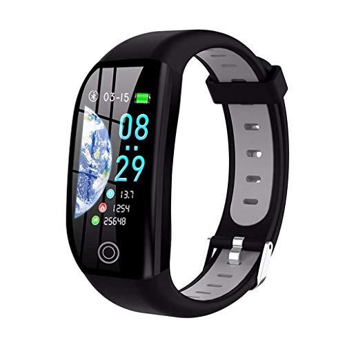 GXFNS GPS Smart Armband Band Fitness Tracker Aktivitäts Tracker Cardio Armband IP68 Wasserdichtes Herzfrequenz Armband,Grau