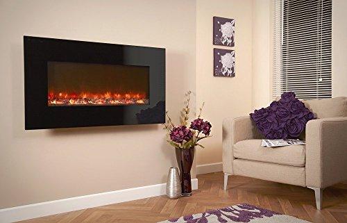 Celsi Designer Fire - Black Glass 1100