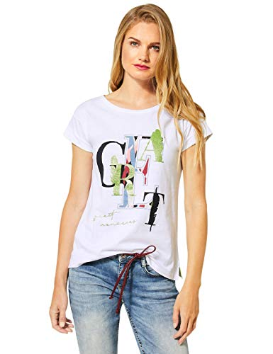 Street One Damen 315126 T-Shirt, White, 36