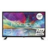 Televisor Led 32 Pulgadas HD Smart TV. Radiola LD32100KA, Resolución 1920 x 720P, HDMI, VGA, WiFi, TDT2, USB Multimedia, Color Negro