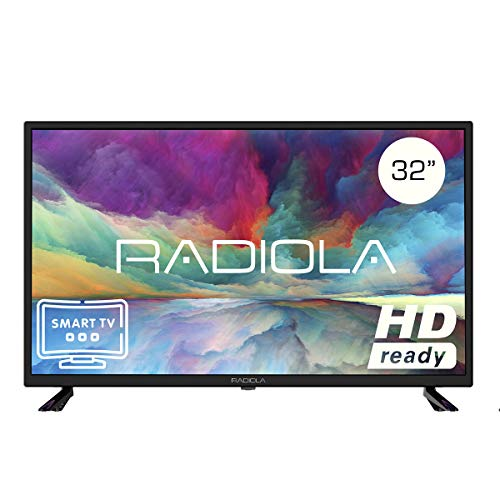 Televisor Led 32 Pulgadas HD Smart TV. Radiola LD32100KA, Resolución 1920 x 720P, HDMI, VGA, WiFi, TDT2, USB Multimedia,...