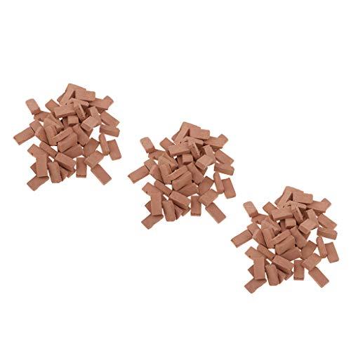 150er-Set 1/16 Backsteine Ziegelsteine für Modellbau Landschaftsbau