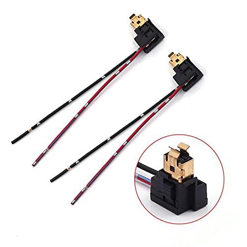 Biqing 2PCS H1Adaptador de Enchufe de Faro,Lámpara de faro Cables Arnés Conector Adaptador para Bombilla H1