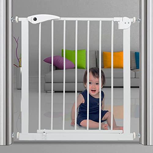 Puerta De Seguridad Para Bebés Auto Cerrar Cierre De Cierre Cerrado Cerca De La Escalera Protección De Mascotas Sin Taladrar Puerta De Metal Para Niños Niños Pequeños Niños Niño(Size:Type B (75-82cm))