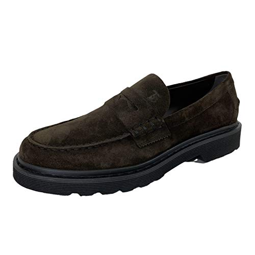 Tod's D80 Mocassino Uomo 84B Brown Scarpa Suede Loafer Man [10]