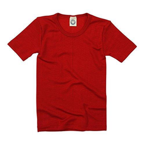 Cosilana Kinder Unterhemd 1/4 Arm, Farbe Rot, Größe 128 Wollbody®