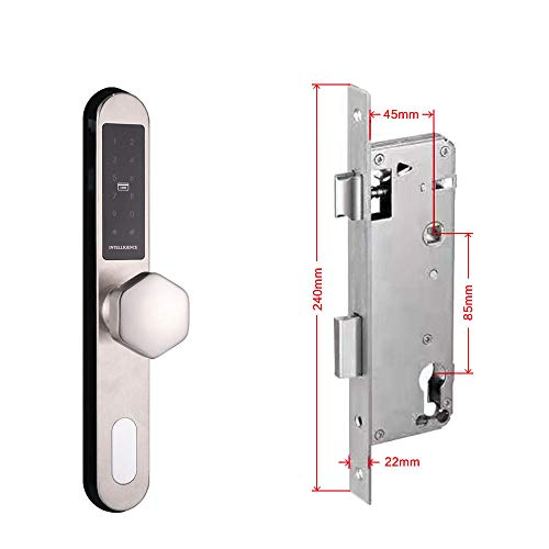 Sleutelloos slot met intelligente cijfercode. B Sliding lock 45mm B Sliding Lock 45mm