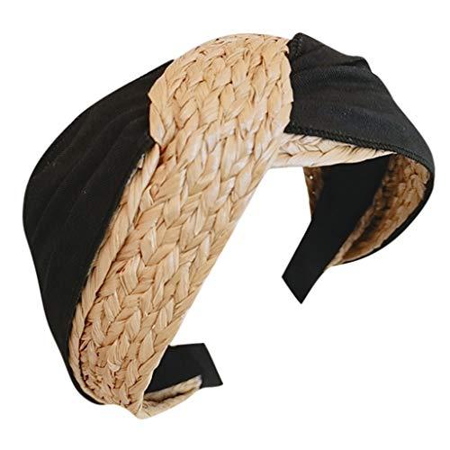 Dicomi Fascia per capelli Minimalista Incrociarsi Headwrap della dea di colore singolo della banda selvaggia tricottata tricottata dei capelli per le ragazze delle donne