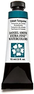 DANIEL SMITH, Cobalt Turquoise Extra Fine Watercolor 15ml Paint Tube, 15 ml
