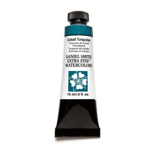 DANIEL SMITH 284600029 , Cobalt Turquoise Extra Fine Watercolor 15ml Paint Tube, 15 ml