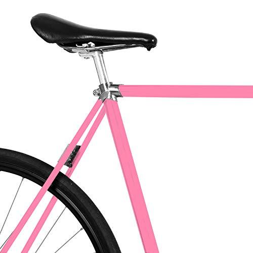 MOOXIBIKE Pink Power Mini Fahrradfolie glänzend für Rennrad, MTB, Trekkingrad, Fixie, Hollandrad, Citybike, Scooter, Rollator für circa 13 cm Rahmenumfang