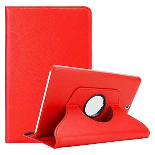 """Cadorabo Funda Tableta para Samsung Galaxy Tab S2 (9.7"""" Zoll) SM-T815N / T813N / T819N in Rojo Amapola – Cubierta Proteccíon en Estilo Libro SIN Auto Wake Up con Función de Suporte"""