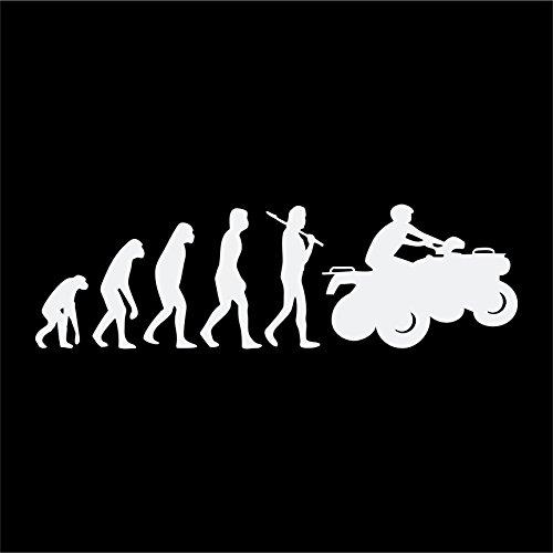 Folistick Evolution Quad Aufkleber Biker ATV Motorrad Aufkleber (Weissmatt)