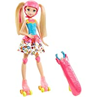 Barbie- Video Game Hero Light-Up Skates Doll Superhero&ampiacutena, Multicolor, (Mattel DTW17) , color/modelo surtido