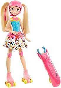 Barbie- Video Game Hero Light-Up Skates Doll Superhero&ampiacutena, Multicolor, (Mattel DTW17) , color/modelo surtido