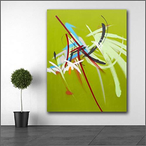 GUDOJK decoratief schilderij groot formaat olieverfschilderij Laat ons dit maken interessante kunst canvas afdrukken foto's voor woonkamer en slaapkamer geen lijst 50x70cm(20x28inch)