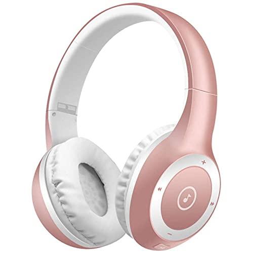 LVF Auriculares Bluetooth, Auriculares con cancelación de Ruido de Alta fidelidad de Alta fidelidad de Alta fidelidad sin pérdida, Auriculares de Bajos Profundos con micrófono(Silver)