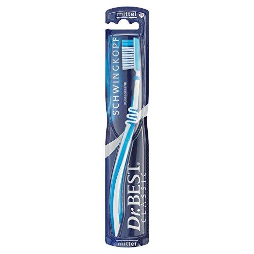 Dr.BEST Schwingkopf Zahnbürste, Mittel (1 Stück), Für die Reinigung schwer erreichbarer Stellen