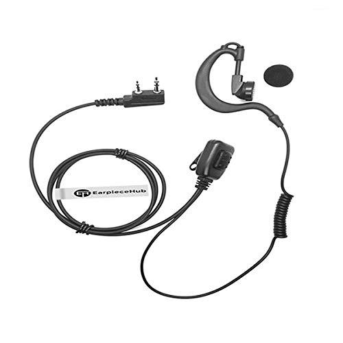Auricular de radio en forma de G para Icom Portable IC-V8 V80 V80E V82 V85 F4026 F3G F4G F11 F11S F14 F14S F21 F21S F24 F24S de 2 pines Walkie Talkie FBI de vigilancia Covert tubo acústico