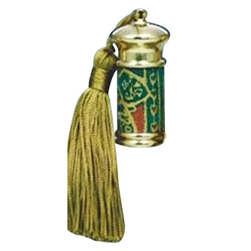 一弾力性のある悪化させるヒロセアトマイザー エスニック レザー ボトル (真鍮 革巻き) 23012 GR (グリーン)