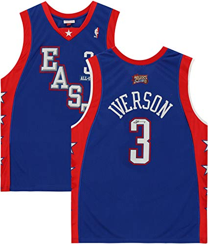 Allen Iverson Philadelphia 76ers Autographed Blue 2004 Mitchell & Ness NBA All-Star Authentic Jersey - Autographed NBA Jerseys