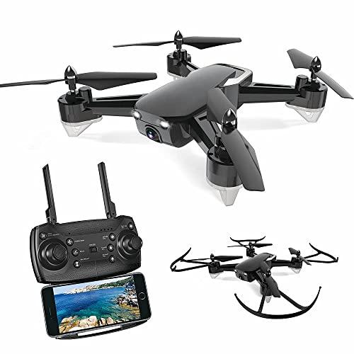 JJDSN Drones WiFi con cámara, Drones de fotografía aérea con función de Disparo de 2 Millones de píxeles y Sistema de Retorno al hogar Incorporado para niño niña Juguete Infantil