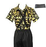 Dealtrade Stranger Things Eleven - Traje de disfraz con cinturón para mujer, manga corta, para fiesta de Halloween, 11 disfraces (amarillo, S)