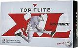 2019 New Top-Flite XL Distance Golf Balls - Maximum Distance & Durability - White (15 Balls)