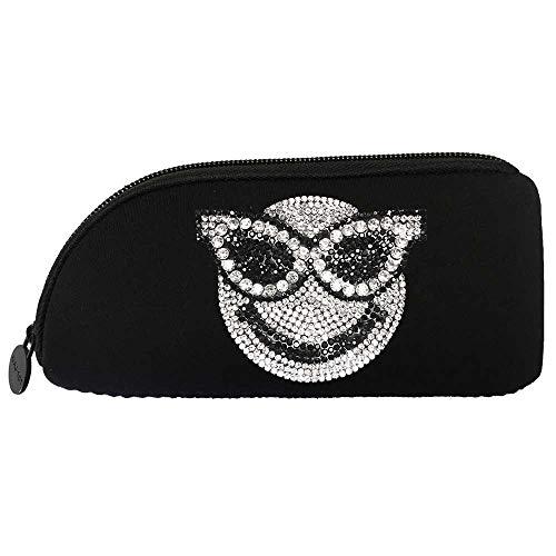メガネケース ペンケース ソフト [スマイル] メイク 収納 ポーチ 眼鏡 サングラス ファスナー ネオプレン