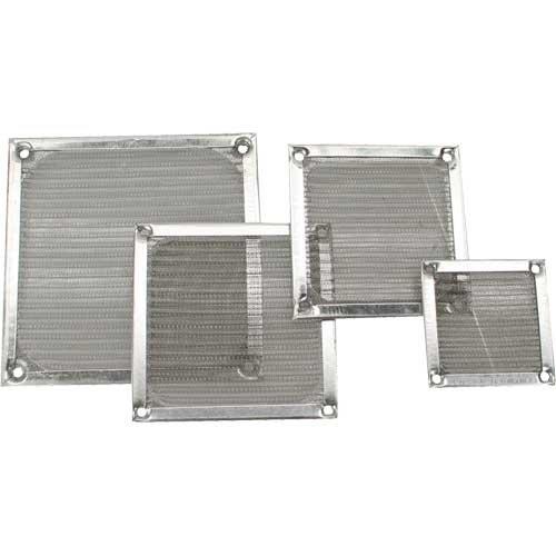Ventilador rejilla filtro de aluminio, 40x 40mm (2unidades)