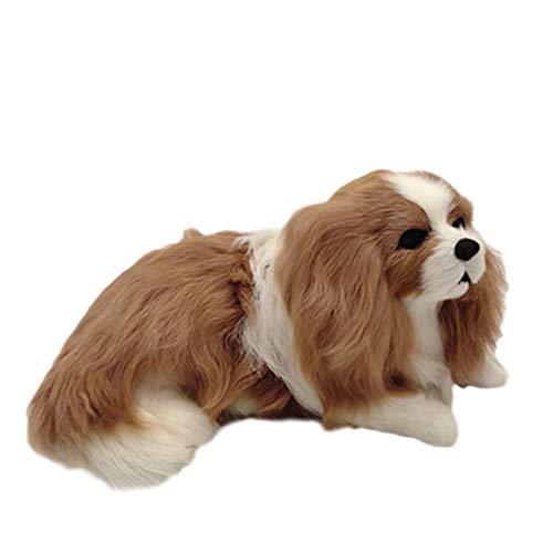 Hunde spielzeug,Plüsch Hundespielzeug, Plüschhund,Naturgetreues Plüschtier mit lebensechtem Gesichtsausdruck