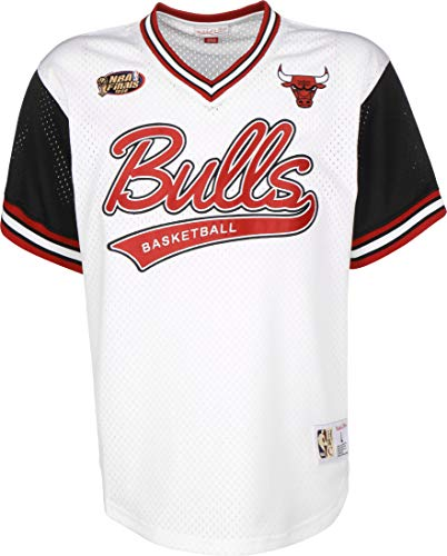 Mitchell & Ness NBA Top Prospect Mesh V-Neck Chicago Bulls White/Black L