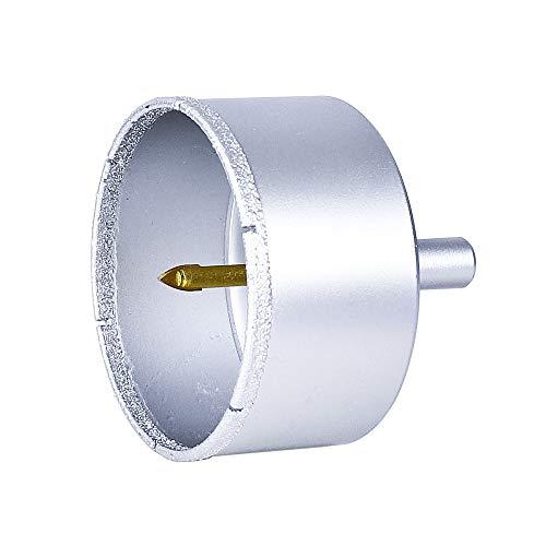 S&R Diamant-Lochsäge Set 68 mm mit Zentrierbohrer, Diamant Hohl-Bohrkrone, für harte Fliesen, Porzellan, Feinsteinzeug, Granit, Marmor, Fliesenbohrer in runder Aufbewahrungsbox