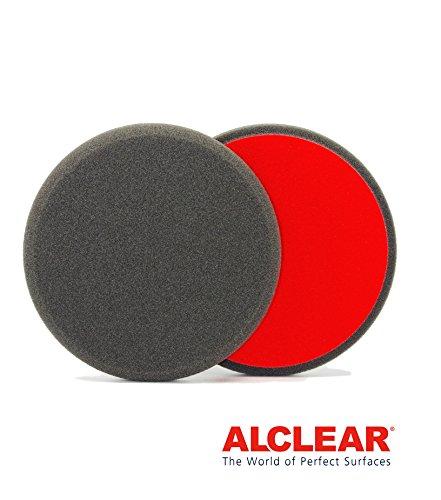 ALCLEAR 5516030F Finishpad gegen Hologramme, Auto Polierschwämme, Durchmesser: 160x30 mm, anthrazit,2er Set, Polierpad polieren Pad Schwamm Polierschaum f. Poliermaschine