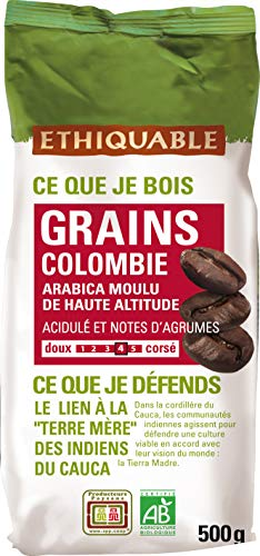 Ethiquable Café Grains Colombie Bio 500 g