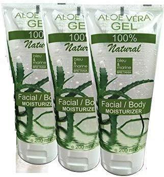 100% Natuurlijke Aloë Vera-Gel Concentrate Spaarpakket 200 ml x 3 Conditioner Haargel After Sun Gel Gel na het scheren Hydraterende gel voor gezicht en lichaam