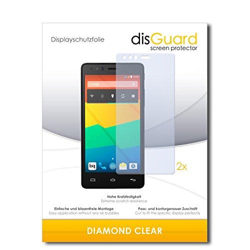 disGuard 2 x Bildschirmschutzfolie BQ Readers Aquaris E5 FHD Schutzfolie Folie DiamondClear unsichtbar