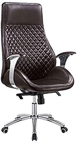 MUBAY Ergonomischer Bürostuhl Büromöbel, Chefsessel, Reclining Boss Stuhl, einfacher und moderner Lederbürodrehstuhl, Ergonomischer Stuhl