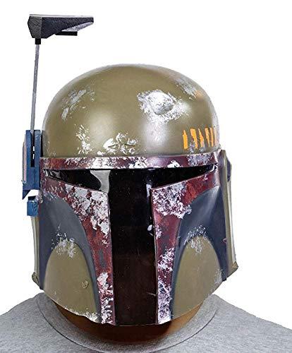 BIRDEU Boba Fett Helm SW Film Cosplay Kostüm Latex Maske Zubehör für Erwachsene Herren HalloweenKleidung Party Merchandise