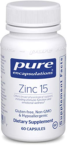 Pure Encapsulations - Zinc 15 - Zinc Picolinate (15 mg.) Highly Absorbable Hypoallergenic Supplement for Immune Support - 60 Capsules