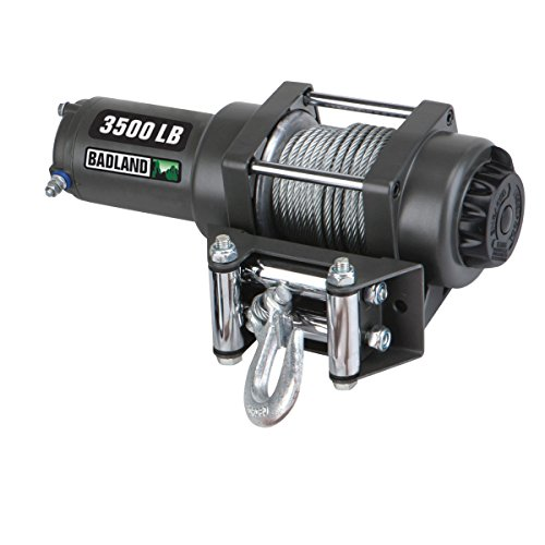 Badland Winches 61383 ATV/Utility Electric Winch with Automatic Load-Holding Brake from TNM, 3500 lb