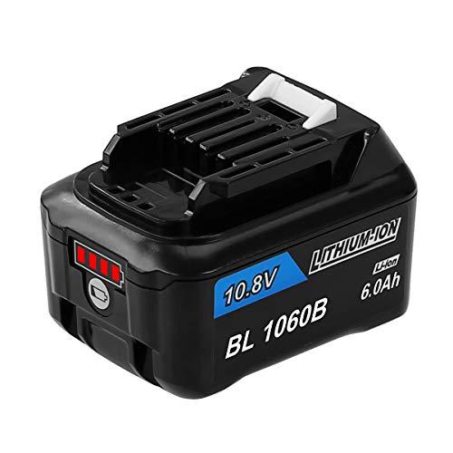 Bluway 互? マキタ 10.8V バッテリー 6000mAh BL1015b BL1040B BL1060 互換バッテリー マキタ掃除機バッテリー 掃除機/電動工具用 BL1050B BL1041B-2 BL1021B BL1060B A-59863