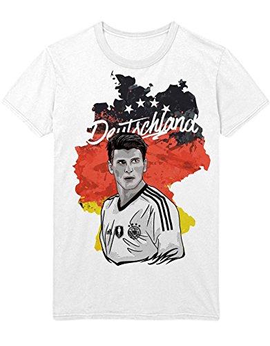 T-Shirt Deutschland Mario Gómez M161602 Weiß S